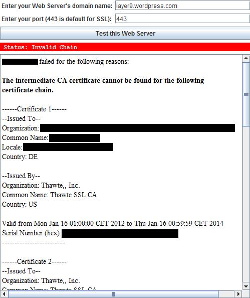Probleme mit MS Forefront TMG 2010 und Intermediate SSL Zertifikaten ...